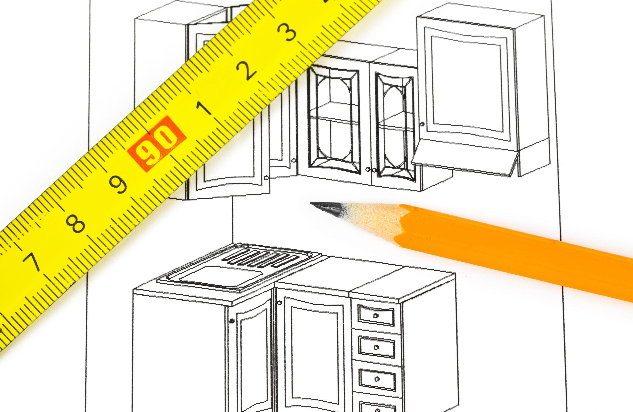 ruler for kitchen planning