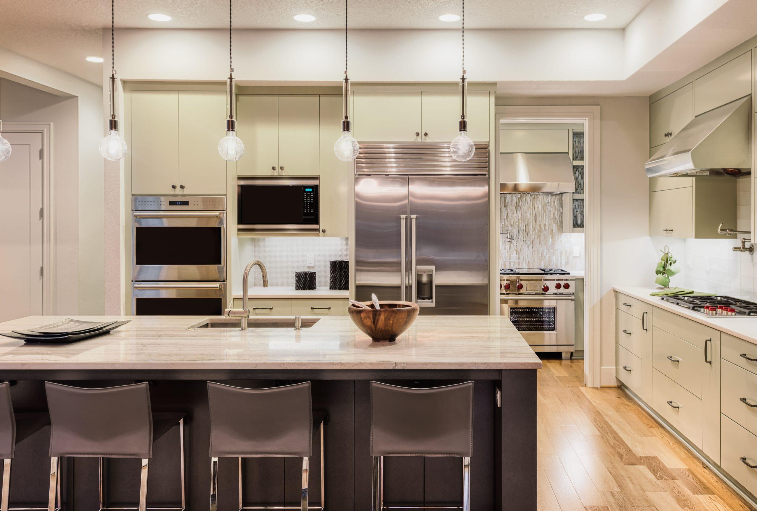 modern kitchen appliance installation
